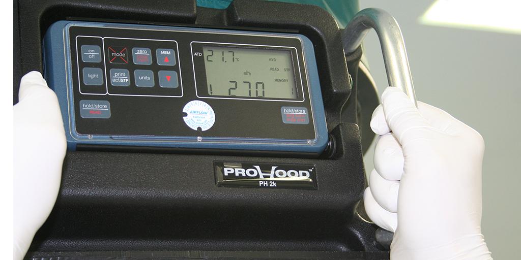 Messung des Luftvolumenstroms